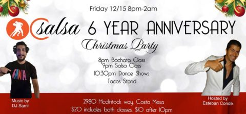 OC Salsa 6 Year Anniversary and Christmas Party